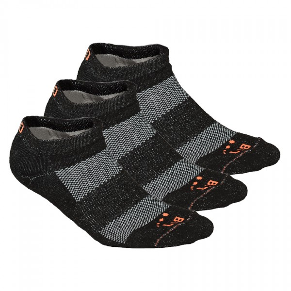 BRD SPORT Athletic Ankle Socks, 3 Pairs , Made from Recycled Plastic Bottles